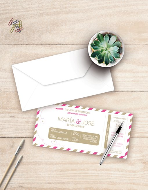 Invitaciones-de-boda-descargables-billete-de-avion