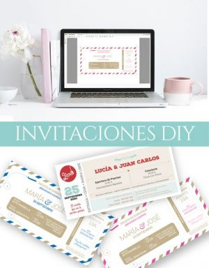 Invitaciones de boda descargables