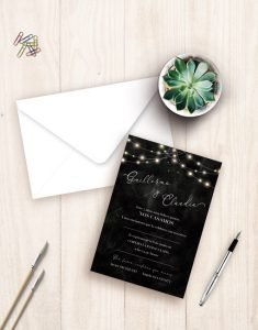 invitaciones boda luces egus in love