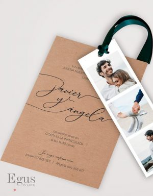 Invitaciones boda fotomaton egus in love