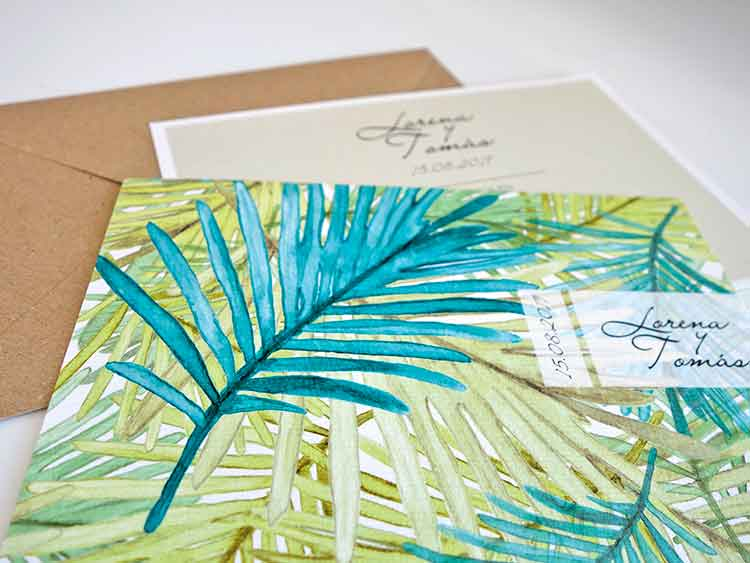 invitaciones boda tropicales egus in love